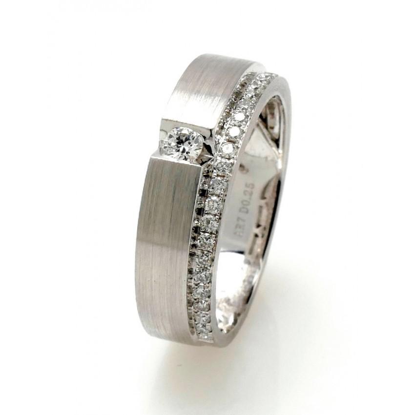 Anillo diamantes doble