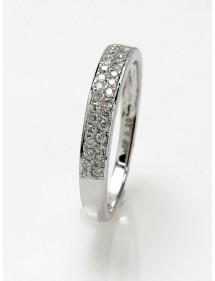 Anillo cinta de diamantes