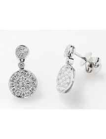 Pendientes diamantes círculos