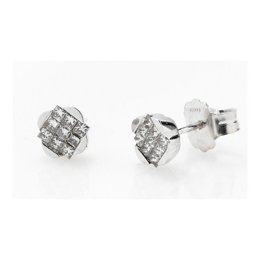 Pendientes diamantes rombo
