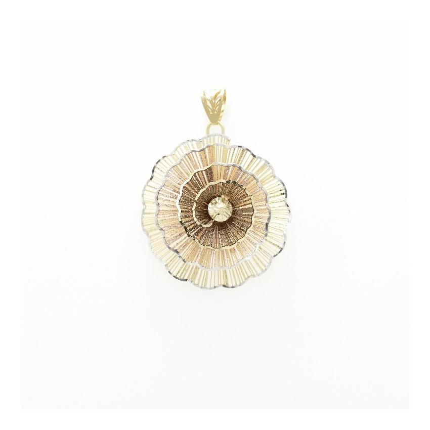 Colgante oro espiral degradada