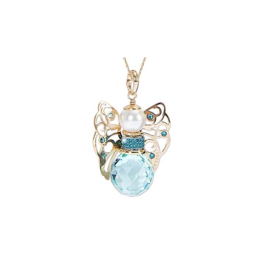 Collar ángel de cristal turquesa