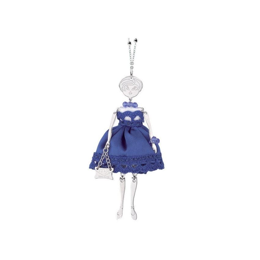 Collar chica vestido azul