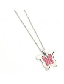 Collar  mariposa rosa