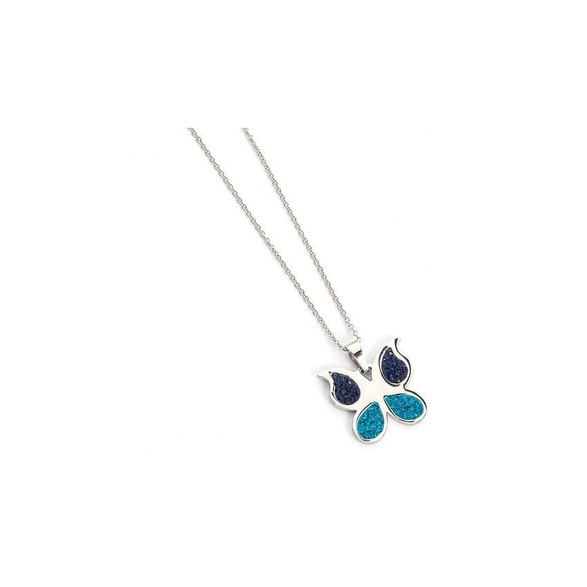 Collar Mariposa dos azules