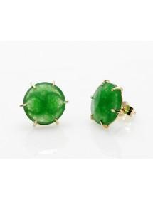 Pendientes piedra verde
