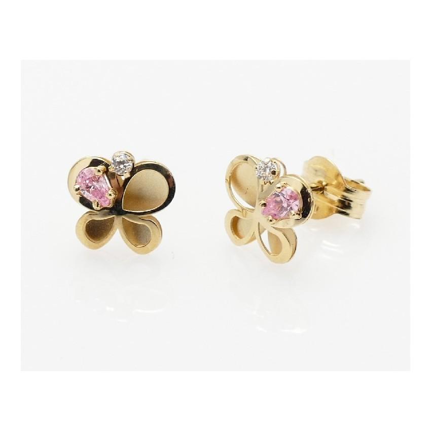 Pendientes mariposa rosa